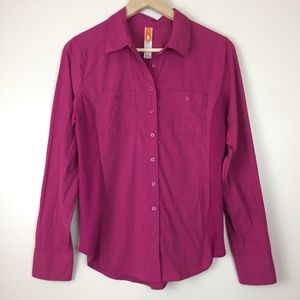 Lucy athletic button up long sleeve sz M